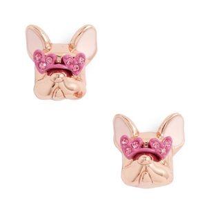 Kate Spade Francois French Bulldog Earrings